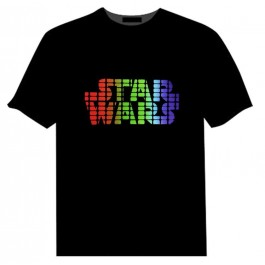 T-SHIRT LED STAR WARS