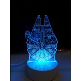 LAMPE DE CHEVET 3D LED HERO RGB
