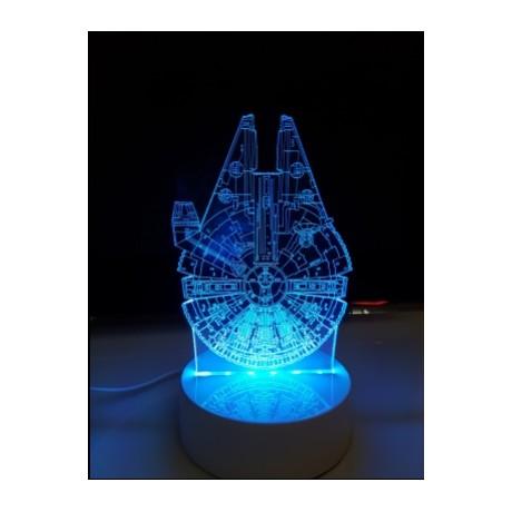 LAMPE DE CHEVET 3D LED HERO RGB